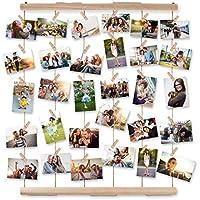 AIEVE Colgar pantalla de fotos,madera colgar marcos de pantalla de fotos, colgar en
