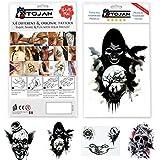 Gothic / Halloween Temporary Tattoos von 4 verschiedenen Tattoos