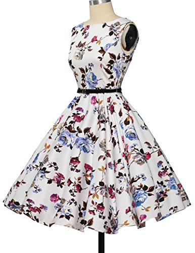 GRACE KARIN® 50s Retro Vintage Rockabilly Kleid Partykleider Cocktailkleider GD6086 CL6086-22#