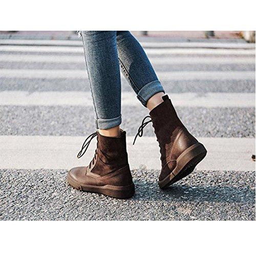 Caldi stivali casual da donna Freddo antiscivolo Scarpe da trekking invernali 40