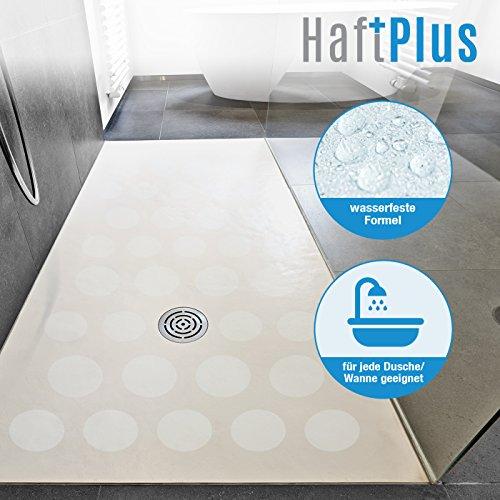 HAFTPLUS 10 Stück Power Anti-Rutsch Sticker – Mehr Sicherheit für Ihre Dusche und Badewanne. Transparente Antirutsch-Aufkleber Ø 10 cm. -