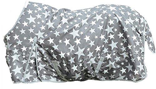 HKM 75489500.0030 Weidedecke Stars 600D mit Polarfleecefutter, grau