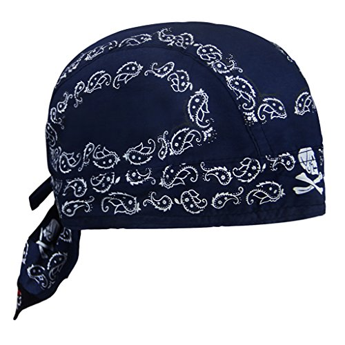 �r Damen Herren Bandana Cap Hut Sport Kopfbedeckung Piratenmütze Hip Hop Cap Stirnband aus atmungsaktive Baumwolle(Dunkelblau) ()