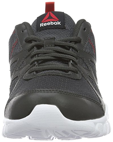 Reebok Trainfusion Nine, Chaussures de Gymnastique Femme Gris (Coal/Riot Red/White/Black)