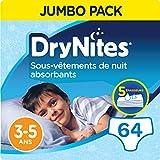 DryNites - Ropa interior desechable de noche para niñas