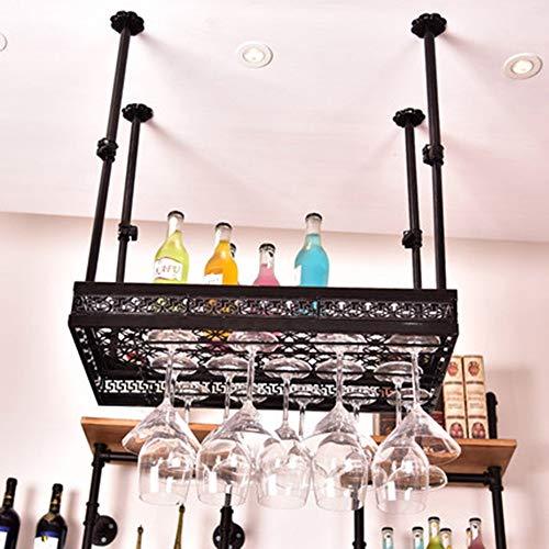 BinLZ Weinregale Wandbehang Weinglas Rack Retro-Stil Kreative Einzigartige Bar Dekoration, um Jeden Raum zu Ergänzen, 80 cm × 32 cm -