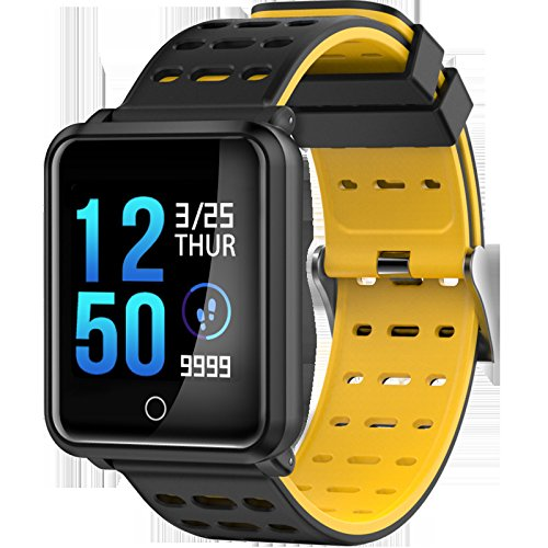 Sleep Monitor Color Screen Smart Bracelet Large Screen Heart Rate Monitor Waterproof Sports Bracelet with Bluetooth Steps geeignet für Wandern, Laufen, Mountainbiken, Basketball, Tanz, etc.