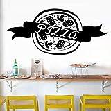 Qbbes Pizza Sticker Food DecalVinyldecalcomanie InVinileDecorazione Murale Pizza Sticker 27X58Cm
