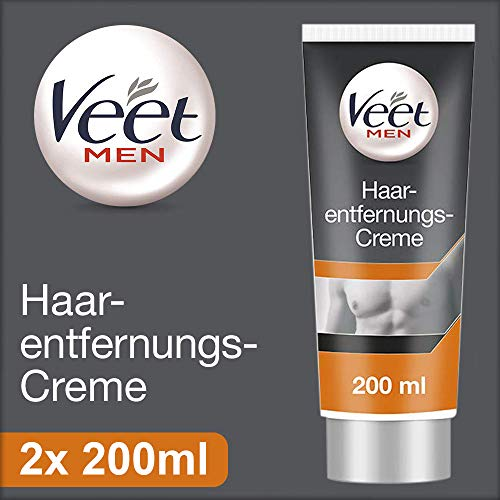 Veet for Men Enthaarungs-Gelcreme 2er Pack (2 x 200ml)