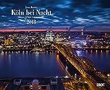 Köln bei Nacht 2018 – Wandkalender 52 x 42,5 cm – Spiralbindung