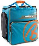 Brubaker Skischuhtasche Helmtasche Skischuhrucksack Super Champion Blau Orange - Limited Edition -