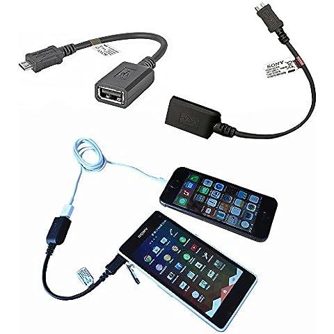 Genuino originales Sony EC310 - iPhone iOS Cable de datos transferencia USB para todos los modelos de Sony (Xperia Z / Z1 / Z2 / Z3 / Z4 / E3 / E4 / M2 / M4, todos los modelos compactos y