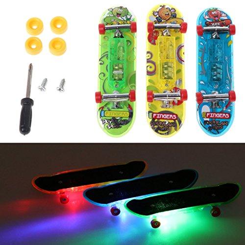 ECMQS 2 stücke LED Mini Skateboard Deck Griffbrett Skateboard Sport Spiele Kinder Geschenk