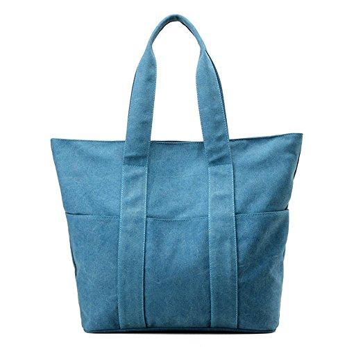 Segeltuch-Handtaschen-Damen-Schulter-Kurier-einfaches Art- und Weisepaket Blue