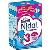 Nestlé Nidal 3 Lait de Croissance en Poudre de 1 à 3 Ans Bag in Box de 2 Sachets de 350g - Lot de 3