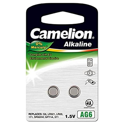 Camelion Knopfzelle LR69 2er Blister, Alkaline, 1,5V