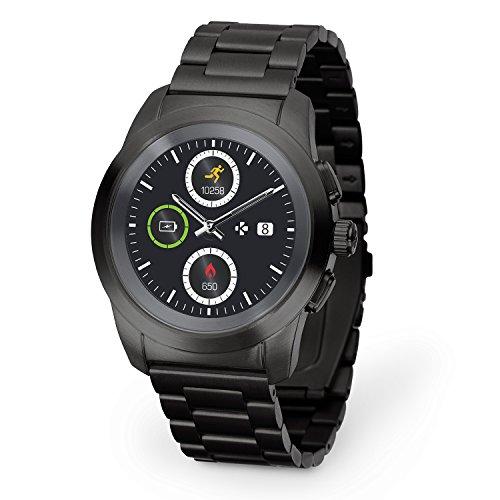 MyKronoz ZeTime Elite Hybrid Smartwatch 44mm with mechanical hands over a color...