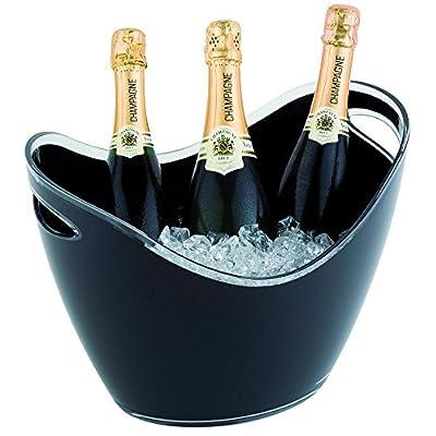 Aps Wein Und Sekt Flaschenkhler 6 Liter In Schwarz 35 X 27cm Hhe 255 Cm Mit 2 Seitlichen Eingriffen