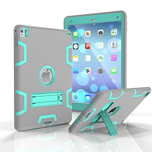 iPad Air 2 Hülle, iPad Pro 9.7 2016 Hülle, Fizze dreilagige PC & Silikon High Impact Hybrid Drop Proof Armor Full Body Schutzhülle mit Ständer für iPad Pro 9,7 Zoll 2016 / iPad Air 2 (iPad 6) Otterbox Armor Serie