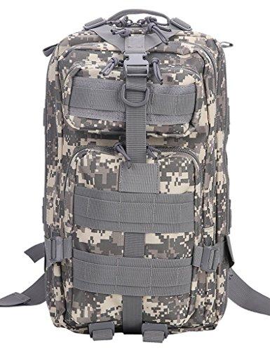 Melotfast Wasserdicht Assault Pack Molle Militaer Armee Praktischer Rucksack Gross Taktischer Cooper Rucksack Trekkingrucksack Wanderrucksack(ACU)