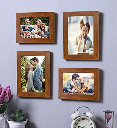 Art Street - Set of 4 Brown Wall Photo Frame (Mix Size)...
