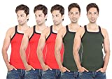 Bodysense Red & Green Men's Gym Vest ( P...