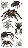 Spestyle wasserfest und ungiftig Terrible verschiedenen Spinnen mit Spinnennetz für Halloween-Party realistisch Tattoo-Aufkleber
