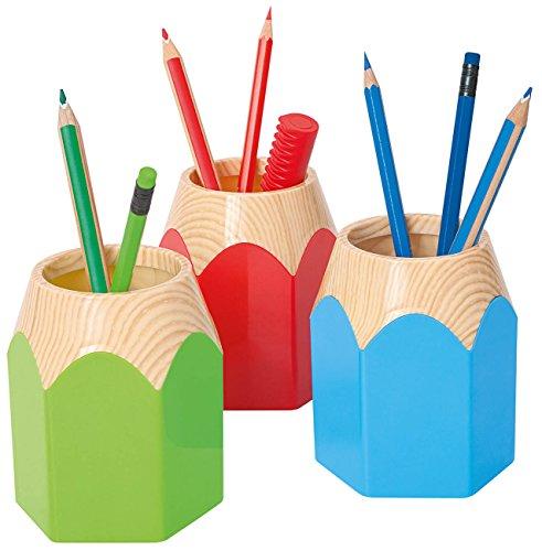 Wedo 245255011 Stifteköcher Pencil In Buntstift Form, stabiler Kunststoff circa 8, 5 x 7, 5 x 10, 5 cm, apfelgrün - 2