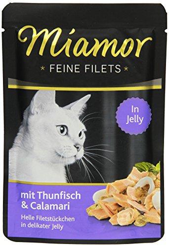 Miamor Katzenfutter Feine Filets Thunfisch & Calamaris 100 g, 24er Pack (24 x 100 g)