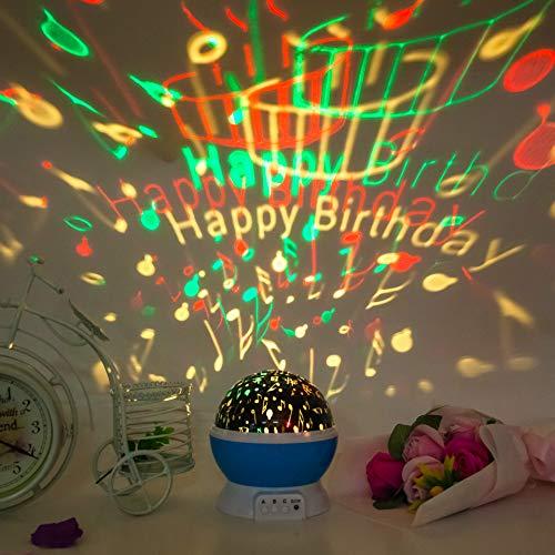 Fantasie Romantische Drehende Led Sterne Licht Projektor Lampe Nachtlicht Heiligabend Weihnachten Geburtstagsgeschenk Eine Große Anzahl Von Aktien Alles Gute Zum Geburtstag