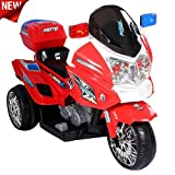 US HighWay Patrol POLIZEI MOTORRAD Elektro Kindermotorrad Roller Kinderfahrzeug (Rot)
