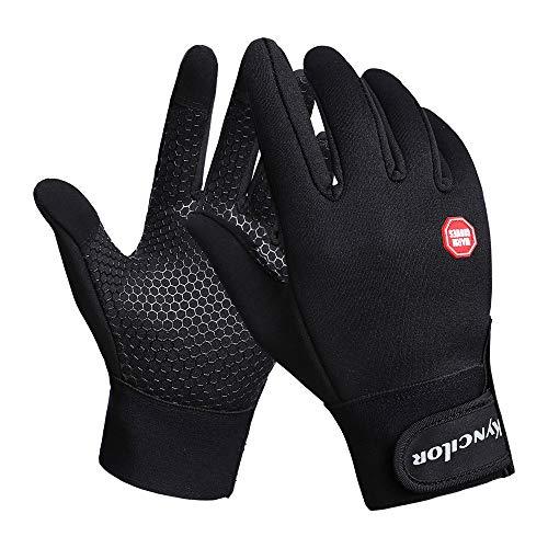 Handschuh Herren Winter Outdoor Fahrradhandschuhe Winddichte Ski Warmer Berg Fäustling klettern XXYsm Schwarz M -