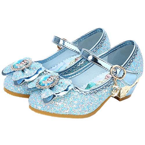 YOSICIL Disfraz Princesa Zapatos Frozen Elsa Zapatos de Lentejuelas Antideslizante Niñas...