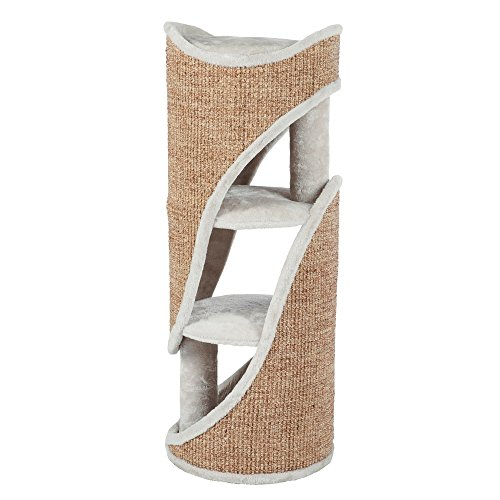 Trixie 44704 Cat Tower Jasone, 98 cm, lichtgrau/braun