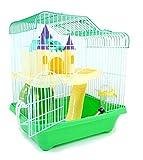 BPS® Gabbia per criceto con scala, tunnel e casetta, 28x 21x 31cm, colori assortiti, rif. BPS-1340, Verde