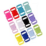 #8: Segolike 36 Pieces Resin Side Quick Release Safety Buckles Adjusting Clips Mixed Colors
