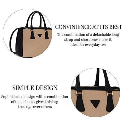 Trend Star Women New Designer handbags shoulder bags leatherette celebrity style fashion Large Tote A - Grau