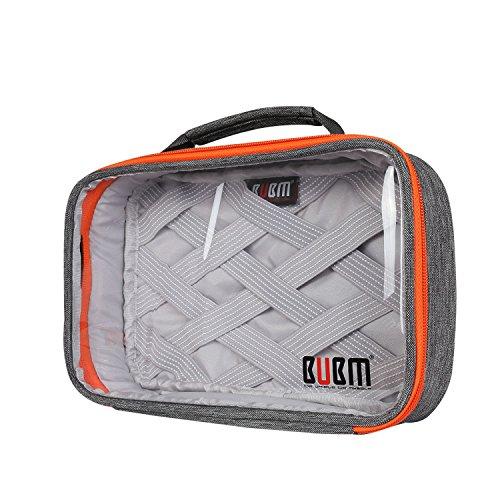 bubm-rectangle-clear-travel-gear-organiser-electronics-accessories-bag-grey