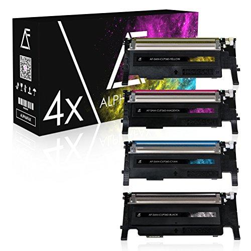 4 Toner für Samsung CLP-360 N ND Series 365 W CLX-3300 3305...
