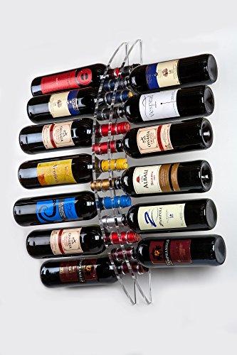 Expositor de botellas de vino para pared de 13 botellas   Este botellero de vino tiene múltiples aplicaciones: casa, tiendas especializadas y gourmet, bodegas, bares y restaurantes, ferias, lugares de ocio y entretenimiento, etc. Al ser totalmente t...