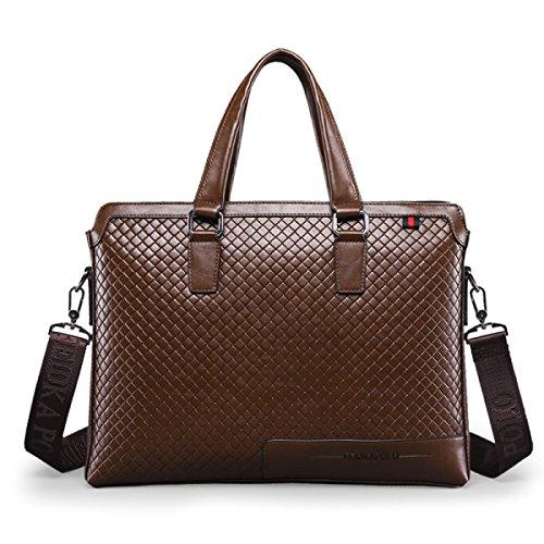 Männer Schultertasche Handtasche Messenger Bag Lingge Leder Männlich Tasche Computer Tasche A