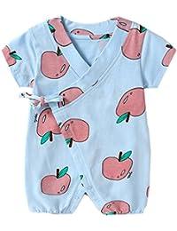 PAUBOLI Newborn Baby Kimono Robe Fruits Romper Infant Cotton Japanese  Pajamas (0-1 Months 991a53add