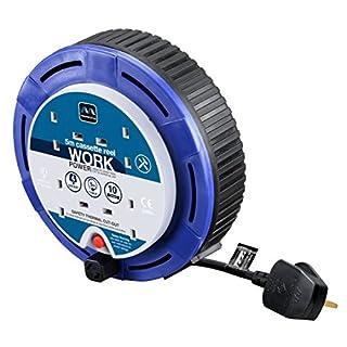 Masterplug SCT0510/4BL 10amp 4 Socket 5m Small Cassette Reel - Blue