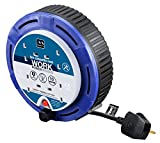 Masterplug SCT0510/4BL 10amp 4 Socket 5 meter Small Cassette Reel - Blue