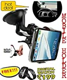 #3: Universal Car Mount holder/Windshield/Dashboard/Working Desk holder With 360 Degree Rotating Base With Flexible Arm To Position Mobile For All Smartphones and (Get a digital wrist band cum watch worth Rs199 absolutely FREE with every purchase from zed bone only)