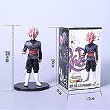 Dragon Ball Z Tamaño Grande Rose Son Goku Vegeta Fusion Figura de acción DBZ Negro Gogeta Son Goku PVC Pelo Rosado, 20 cm