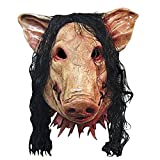 Beetest Masque d'halloween, Masque de Cochon Masque Effrayant Latex Halloween Party Creepy Cosplay Costume Carnaval Masquerade