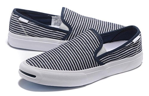 SONGYUNYANHerren outdoor-Freizeit Leinwand Streifen Fashion sneaker Blue