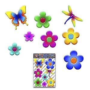 BLUMEN & Flyer Kleiner Schmetterling Libelle Animal Pack Autoaufkleber - ST00056_1 - JAS Stickers