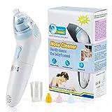 Baby-Nasensauger Elektrischer Nasalreiniger für Babys Effektiver Nasal Aspirator- 3 Betriebsstufen - Passt 0-3Jahre Baby - Sicher Hygienisch Nose Cleaner mit Musik-Design und 3 Größen Ersatzköpfe